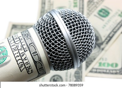 microphone and money