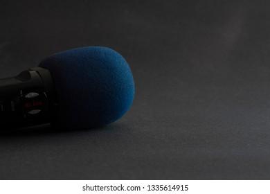 Microphone on a Dark Background