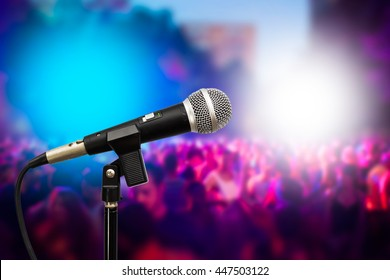 microphone on people background