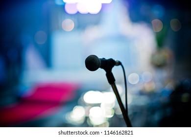 microphone on stage, Speaker