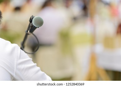 microphone on stage, speaker, concert, music