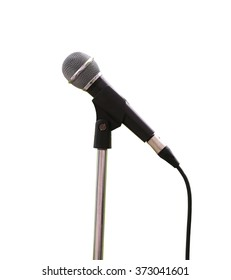 microphone on white background and have clipping paths.