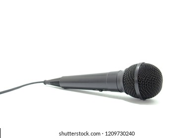Microphone on white background. Microphone subject photo isolated on white background