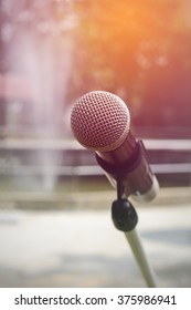 Microphone outdoor