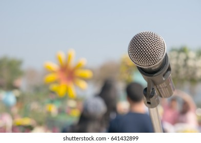 microphone outdoor voice and communication control