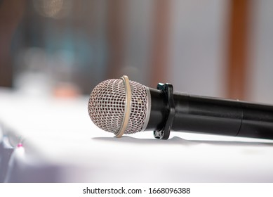 microphone preparing on the seminar table