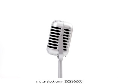 Microphone retro isolated on white background.