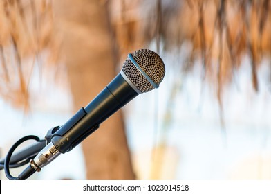 Microphone setting for outdoor event