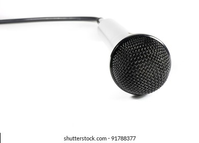 a microphone to sing black and gray