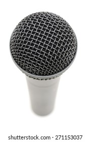 Microphone standing alone.