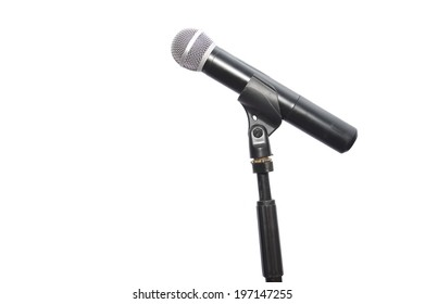 a microphoneisolated on white