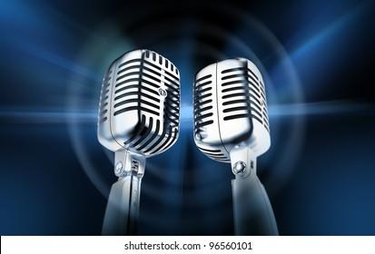 Microphones, blog concept