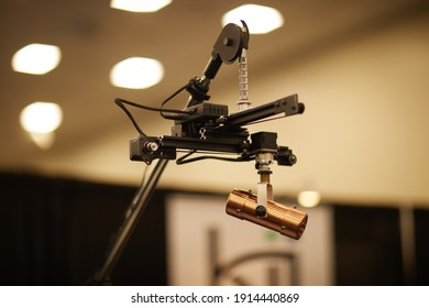 Microphones in recording studio for music production