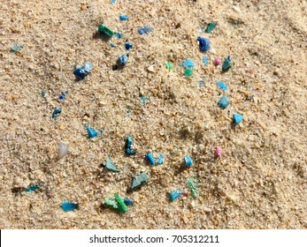 Microplastics on the beach 1