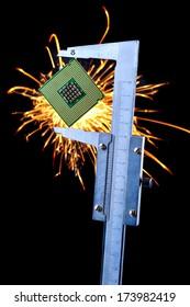 the microprocessor in a caliper