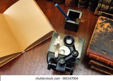 Microscope and the ancient scientific books