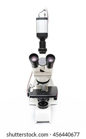microscope isolated on white background with clipping path
