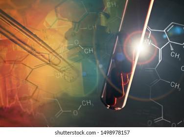 Microscope in laboratory. Science theme.