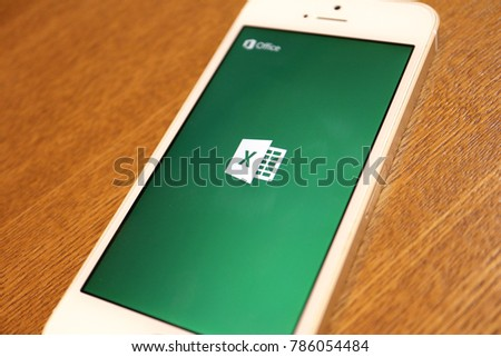 microsoft excel logo display on smartphone 2018 jan 3rd excel is most famous spreadsheet