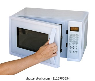 Microwave oven and hand