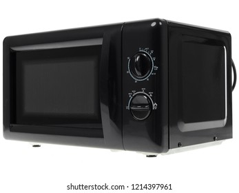 microwave oven over white background