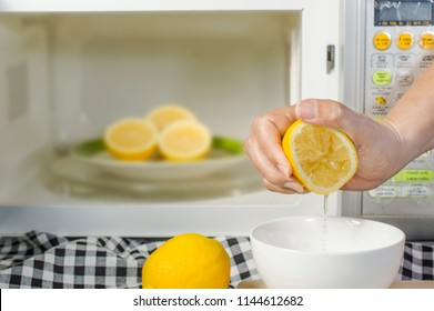 microwaving lemons for 20 - 30 seconds before squeeze make them soft and easily squeeze; kitchen tips