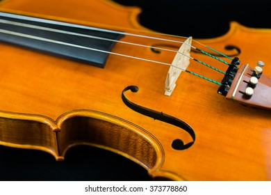 The mid section of a violin.