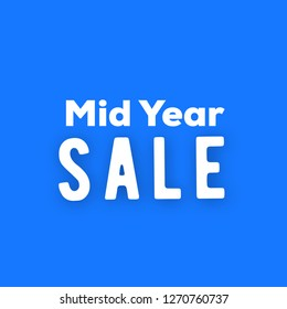 Mid Year sale text