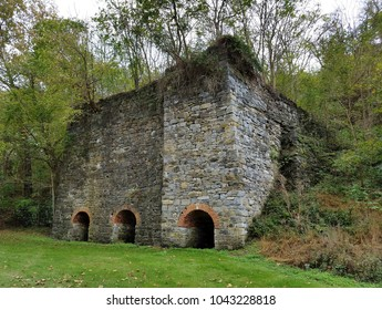 Mid-18th to late-19th century Antietam Iron Furnace, Washington County, Maryland, USA