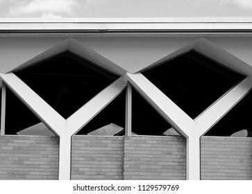 Mid-century building architecture detail