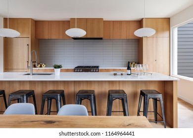 mid-century modern kitchen interior