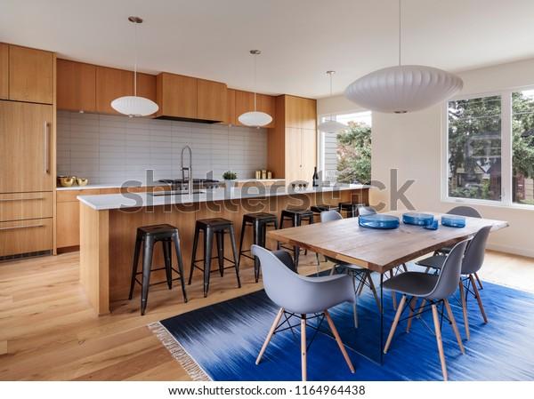 Midcentury Modern Kitchen Interior Stock Photo Edit Now