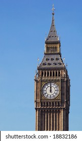 mid-day strikes london's big ben clock tower