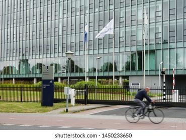 Middelburg, the Netherlands. July 2019. Tax and Customs Administration (Dutch: Belastingdienst) and Directorate-General for Public Works and Water Management (Dutch: Rijkswaterstaat) building.