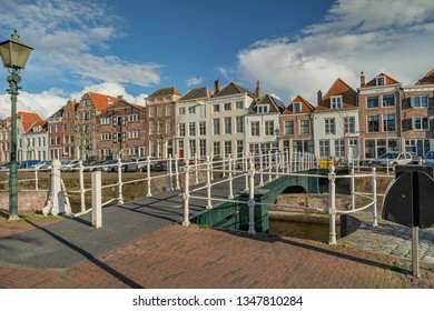 Middelburg - View to Bellenk-Bridge, which is a Turnbridge at Middelburg Marina at Rouaansekaai , Zeeland, Netherlands, 17.03.2019