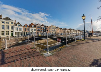 Middelburg - View to Bellink-Turnbridge at Middelburg Marina at Rotterdamsekaai , Zeeland, Netherlands, 17.03.2019
