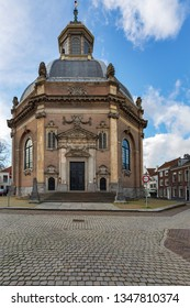 Middelburg - View to former East-Church of Middelburg which will be used in future as concert Hall, Zeeland, Netherlands, 17.03.2019