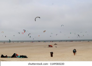 Middelburg/Netherlands-August 05 2018:Due to soaring summer temperature, it is unsually busy in beaches all over Netherlands like this in the Zeeland region.