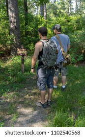 Middle age men headed into the woods, on a 50 mile trek,exploring new trails & enjoying the outdoors!