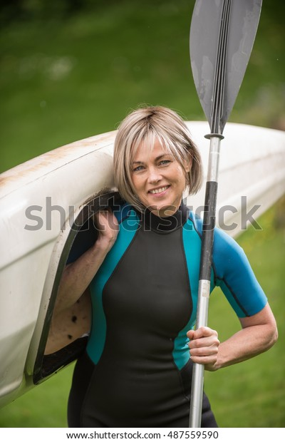 Middle Age Woman Gray Hair She Stock Image Download Now
