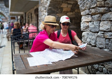Middle age women tourist in Italy Rome