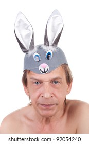 middle aged actor in the hare ears