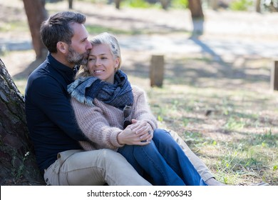 middle aged couple in park