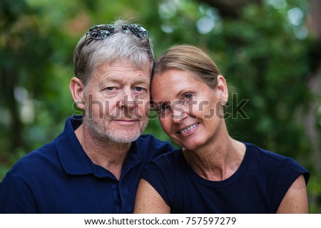 Swedish couple with facial