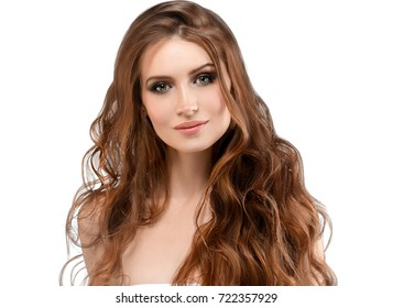 Middle aged woman beauty skin care and beautiful hair.