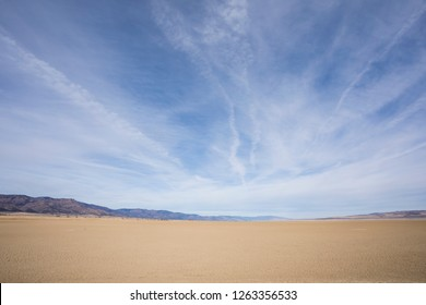 Middle Alkali Lake in Northeast California Modoc County dries up every year and has very accessible salt and mineral flats that locals refer to as the beach or playa.