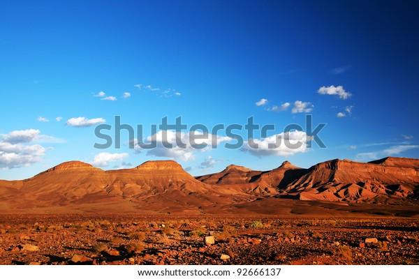 Middle Atlas Mountains, Africa - sunset light