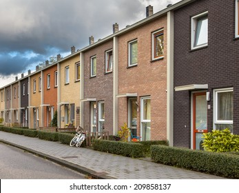 Middle Class Terraced Houses in Earthy Colors