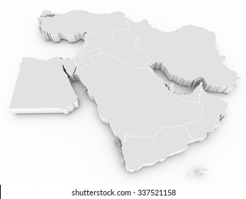 middle east 3d map