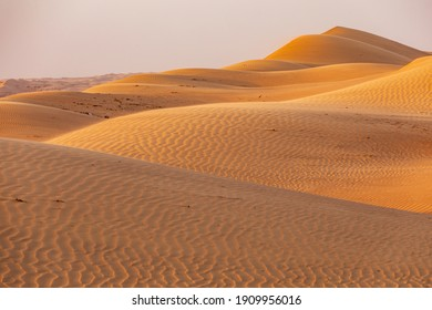 Middle East, Arabian Peninsula, Oman, Ash Sharqiyah North, Bidya. Sand dunes in the desert of Oman.